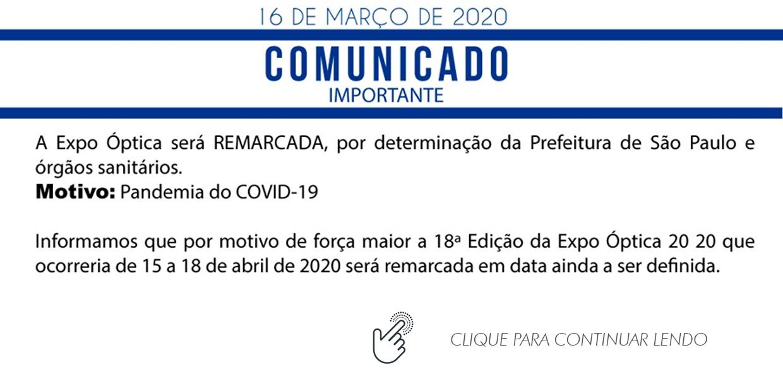 COMUNICADO ABIÓPTICA – Expo Óptica 2020.